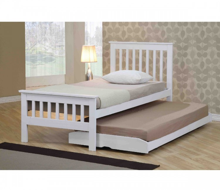 Emporia Sophia 3ft Single White Wooden Guest Bed By