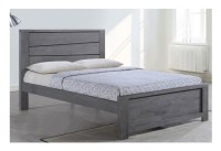 Sleep Design Gawsworth 4ft6 Double Grey Wooden Bed Frame ...