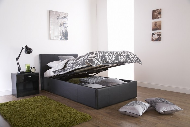 Luther Grey Fabric Upholstered Tv Bed Frame ✓ The Upholstery
