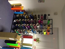 VINYL / FABRIC ROLL STAND - UK Display Stands
