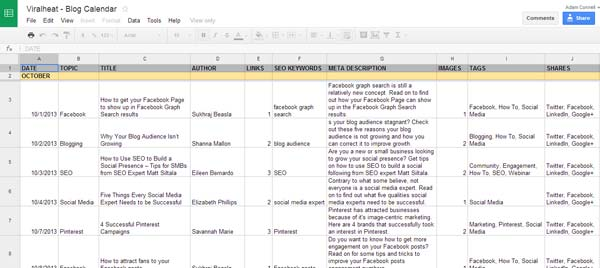 10 Must Haves For Your Editorial Calendar +FREE TEMPLATE - editorial calendar template
