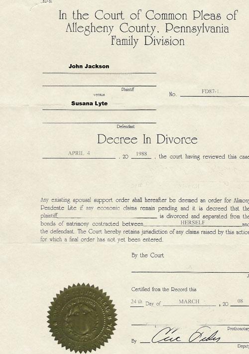 Ukrainian certified translation Divorce Certificate, Judgement
