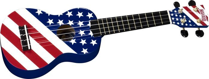Mahalo flag guitar
