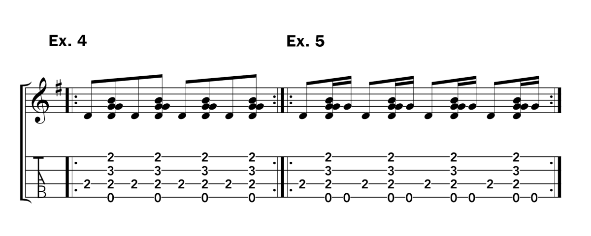 Clawhammer Lesson Uke ex 4 -5