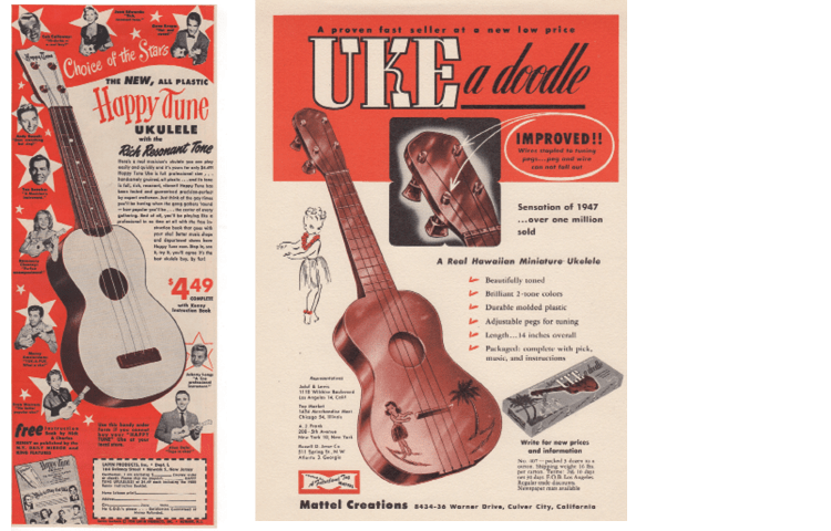 Uke Collection Jumpin Jim Vintage instrument ads