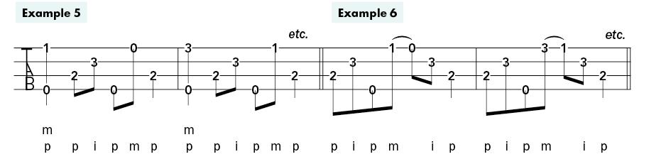 ukulele fingerstyle bootcamp examples 5-6