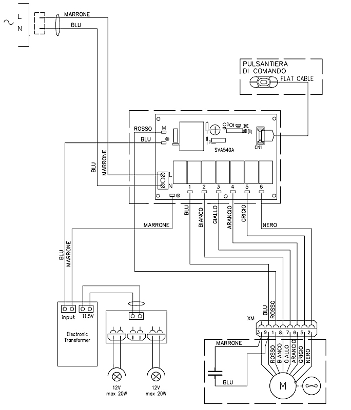 wiring circuit for cooker