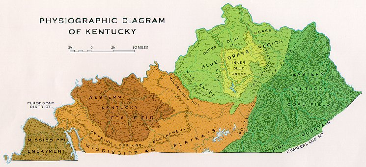 Physiographic Map of Kentucky