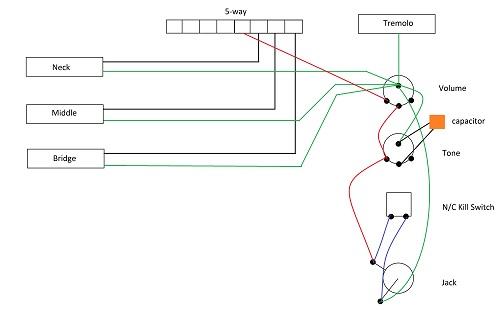 Guitar Kit Wiring Diagram Wiring Diagram