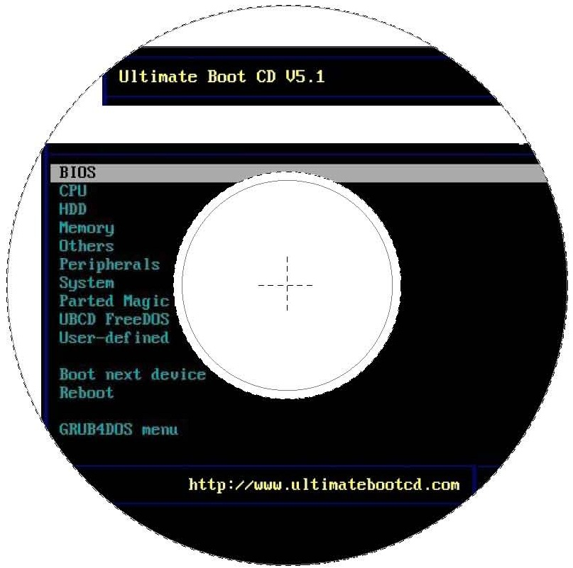 Ultimate Boot CD - CDR Labels