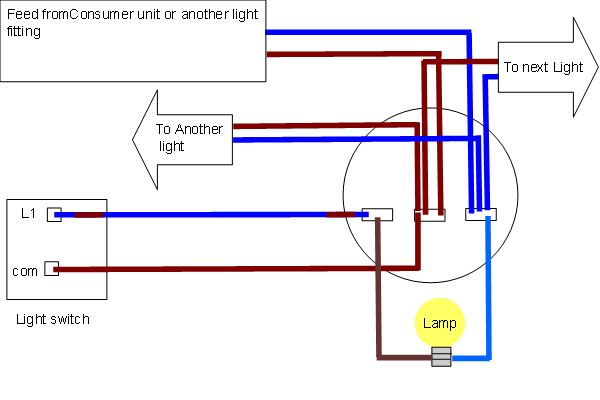 Ceiling rose wiring diagrams - Harmonised colours Light fitting