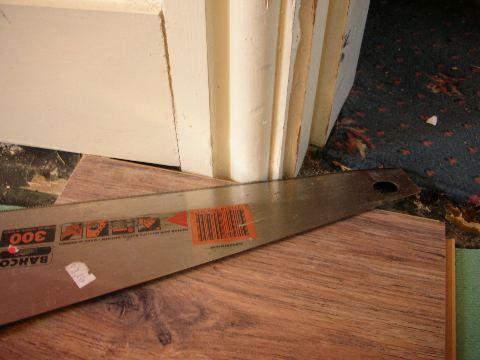 Laminate Flooring Cut Laminate Flooring Around Door Frames