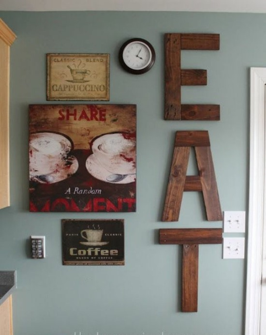 18 DIY Wall Decor Ideas For Attractive Home - kitchen wall decor ideas