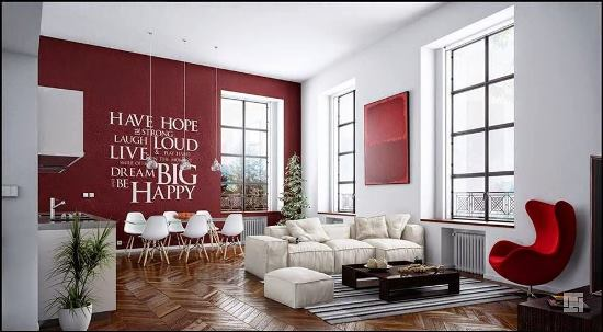 51 Red Living Room Ideas Ultimate Home Ideas - accent wall in living room