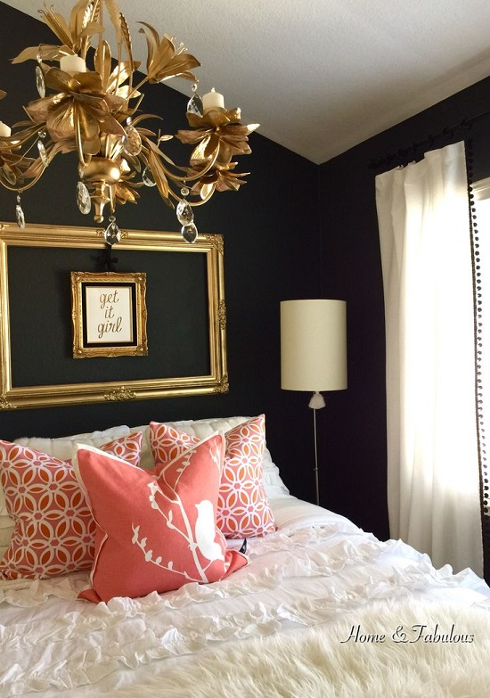 35 Gorgeous Bedroom Designs With Gold Accents - black and gold bedroom decorating ideas