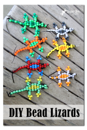diy bead lizards