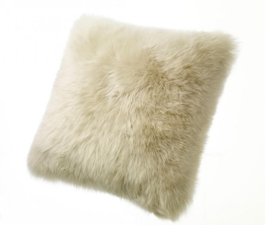 Sheepskin Pillows Large 32 Fur Floor Cushions Ivory