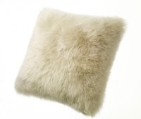 Sheepskin Pillows Large 32 Fur Floor Cushions Ivory