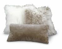 Tibetan Lambskin Throw Pillows Curly Fur 16 Cushions ...