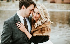 Engaged couple | Downtown Beloit | Nicole Lender Photography