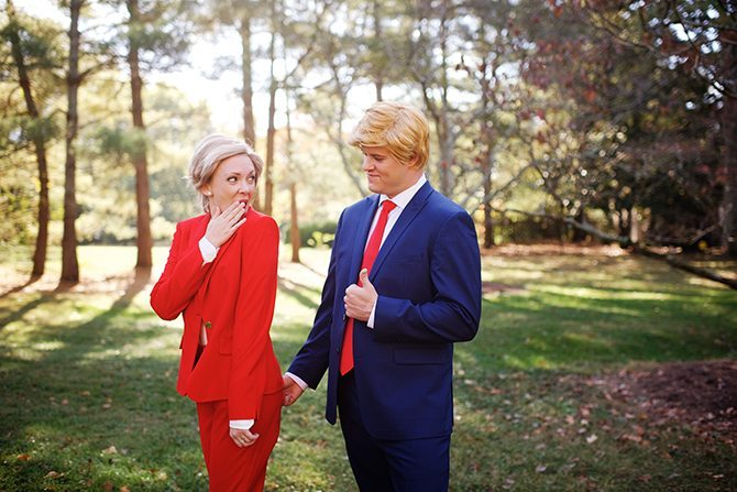 Trump and Clinton Wedding | Justin Wright Photography