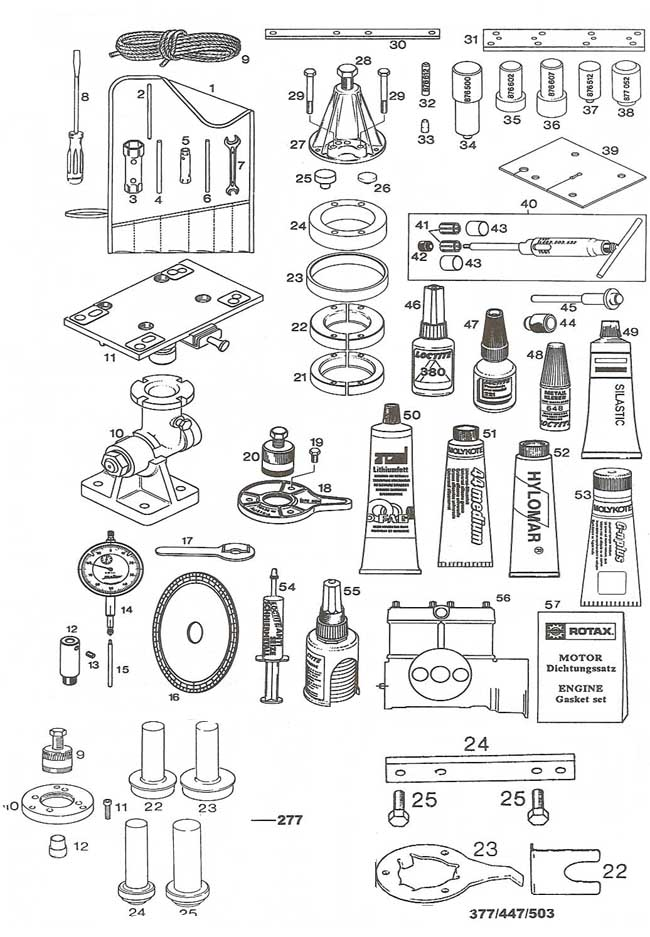Rotax special tools, Rotax aircraft engine specialty tools, timing