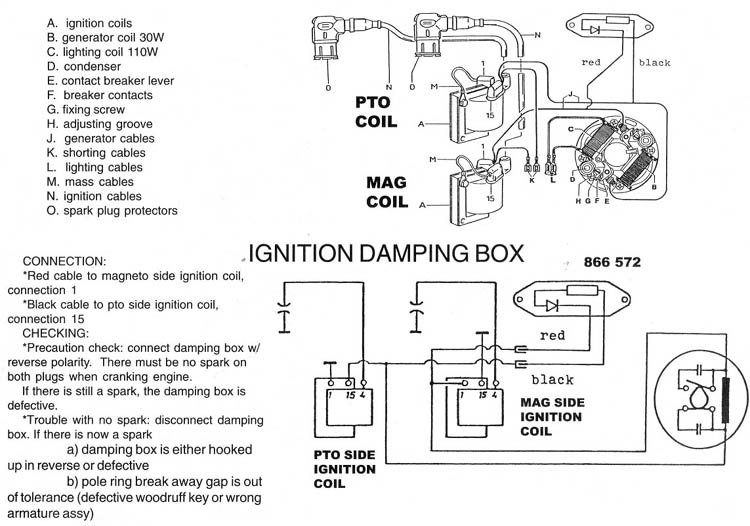 Rotax points ignition wiring diagram, Rotax Bosch ignition wiring