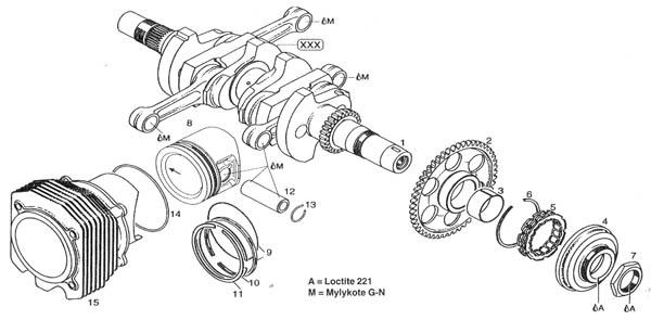 Rotax 912 crankshaft, Rotax 914 crankshaft