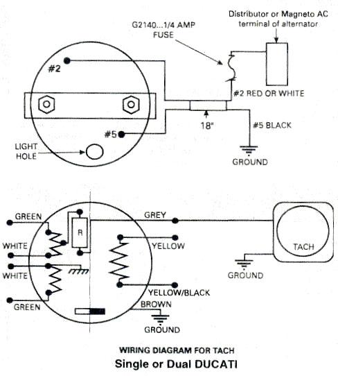 Ducati tachometer, Ducati ignitionwiring diagram for Rotax 447, 503