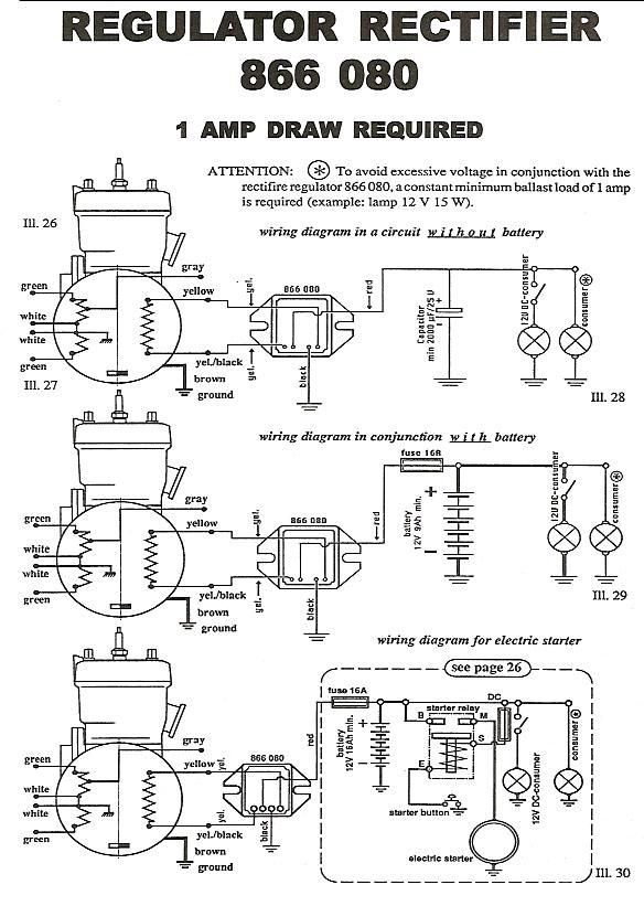 Rotax rectifier 886 080 wiring diagram