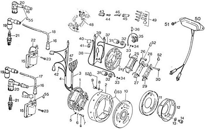 rotax ignition points wiring diagram