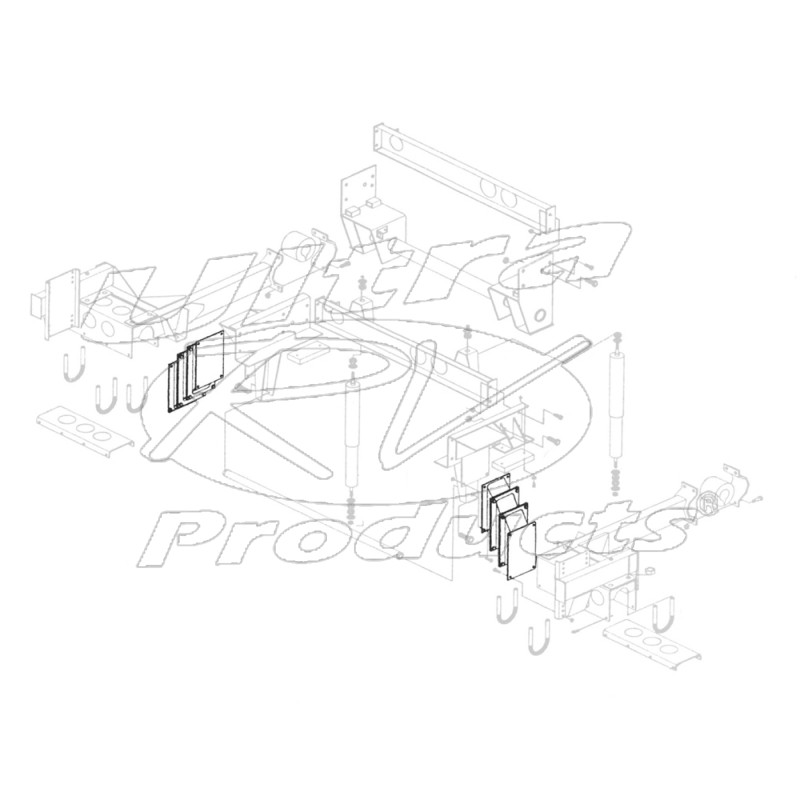 AO25-004 - Mor/Ryde F53/P30 Tag Axle Rubber Spring - Morryde