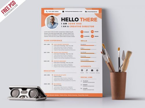 115+ Best Free Creative Resume Templates - Download - resume cv templates free