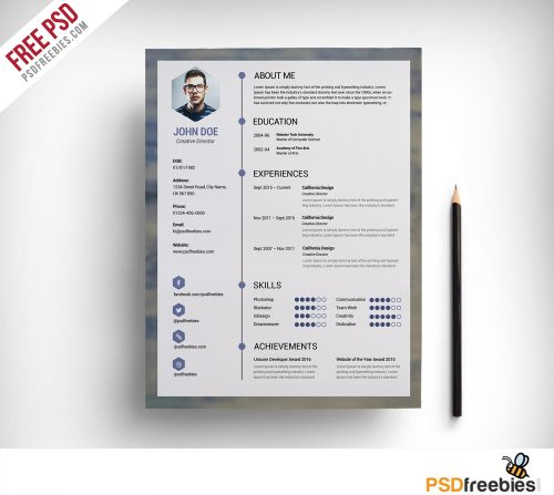 architecture resume template free psd