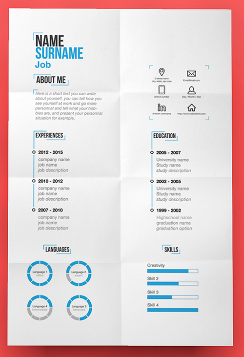 115+ Best Free Creative Resume Templates - Download - Free Graphic Design Resume Templates