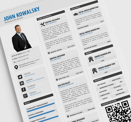 115+ Best Free Creative Resume Templates - Download - free pdf resume template