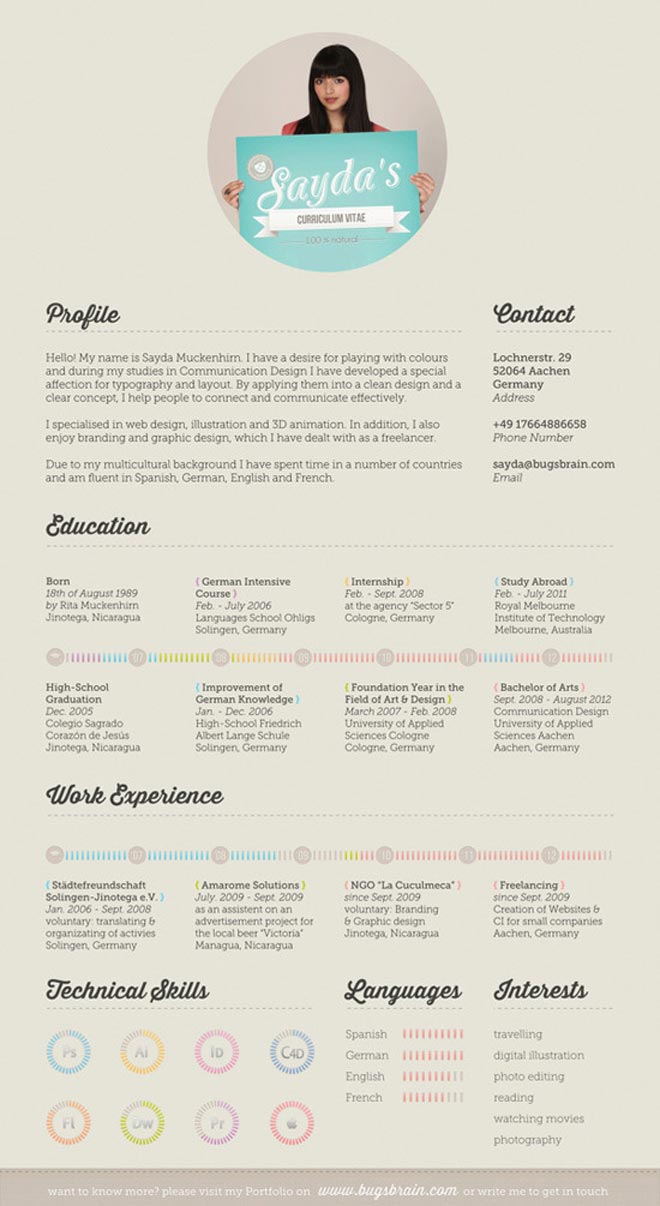 interesting cv designs