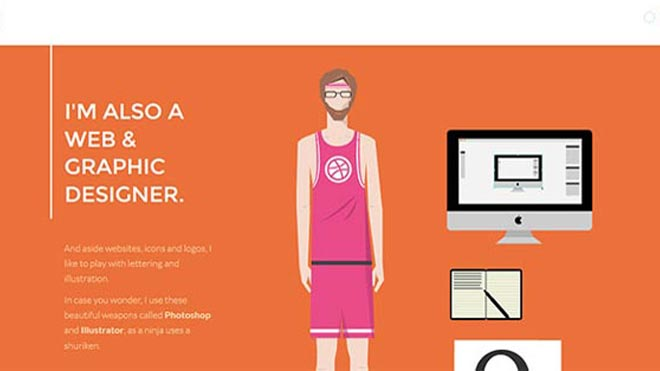 12 Super Creative Interactive Online Resumes Examples - Resume Websites Examples