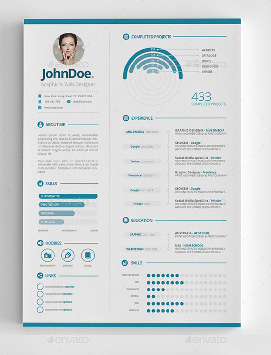 28+ Infographic Resume Templates Download Free  Premium