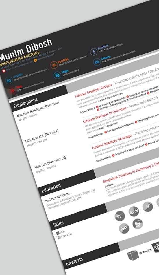 28+ Infographic Resume Templates Download Free  Premium - free unique resume templates