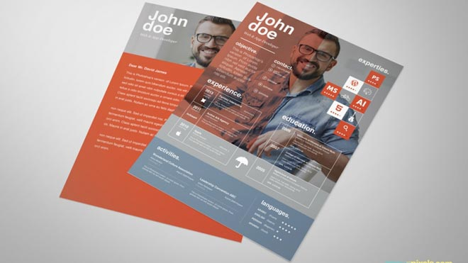 Free Graphic Design Resume Template \u2013 By ZippyPixels