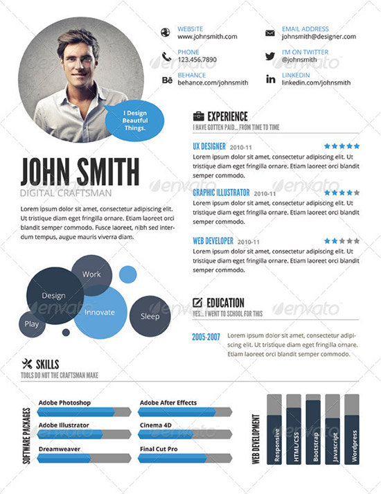 28+ Infographic Resume Templates Download Free  Premium - infographic resume templates