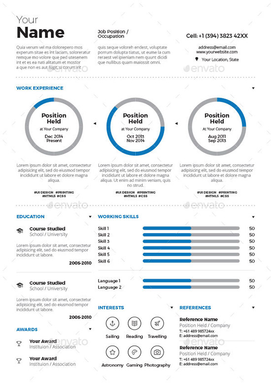 28+ Infographic Resume Templates Download Free  Premium - Best Resume Template