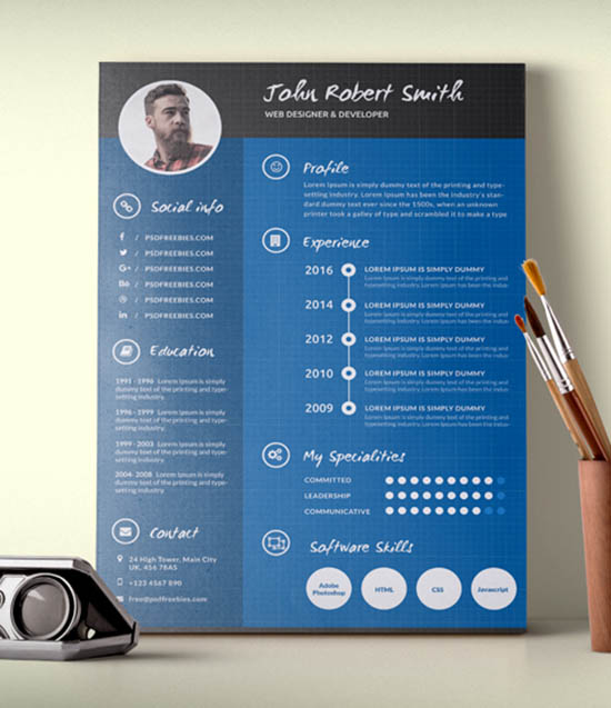 Resume Templates For Graphic Designers | Cover Letters Investment