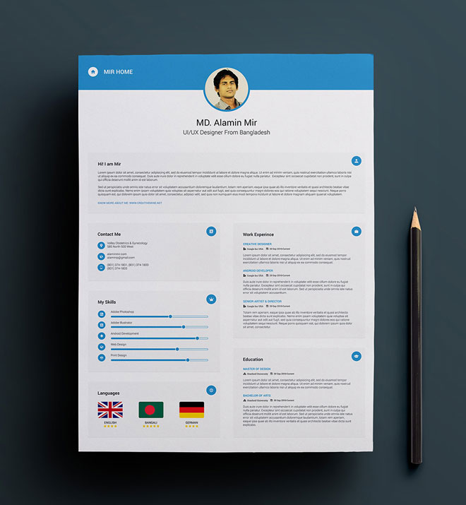 Free Perfect Resume And Business Card Design - resume business cards