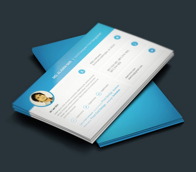 Free Perfect Resume And Business Card Design - business card resume