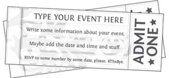 event ticket template microsoft trattorialeondoro - printable ticket templates
