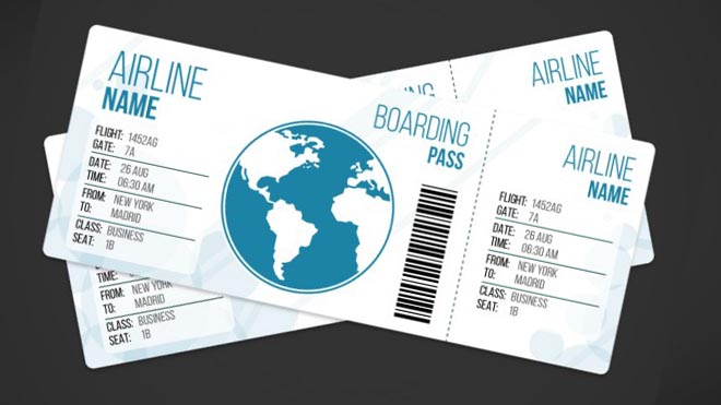 33+ Free Ticket Templates  Psd Mockups For Your Next Branding Project - airplane ticket template