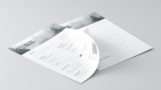 Free Minimalistic Resume Template for Photoshop and Illustrator - clean resume template