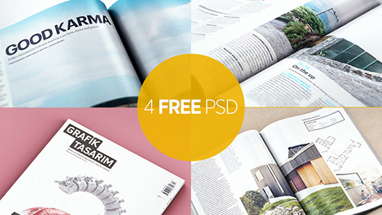 45+ Best Free Magazine Mockup - PSD Templates (2018)